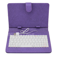 For ipad mini case with keyboard leather purple , with usb tablet keyboard case