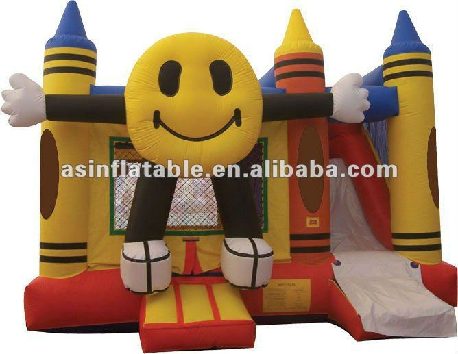 Smiling face inflatable bouncer castle inflatable adult jumpers bouncers