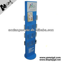 Guangzhou Double Sided Acrylic MDF Wooden Department Store Display Racks For Merchandising