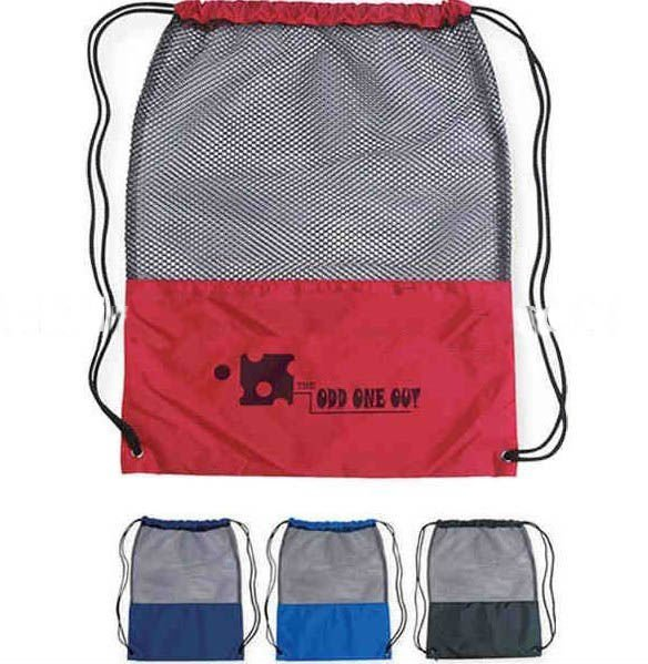 Yiwu Factory Supply OEM swimming Mesh Drawstring Backpack
