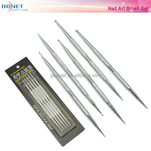 BNT0042 5 pc 2 Way Dotting Pen Tool Nail Art Tip Dot Paint Manicure kit Stainless Steel Dotting Pen