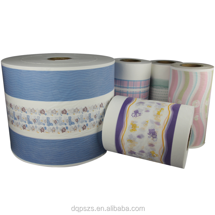CUSTOMIZED all Color diaper raw material for Baby Diaper Back Sheet Film