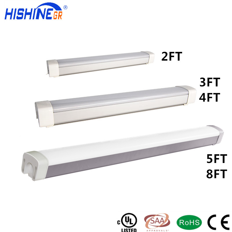 UL CUL 3ft led tri-proof light IP65 T8 Tube LED or Fluorescent 900mm waterproof lamp fixture