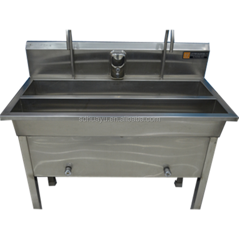 stainless steel hand washing sink used in workshop