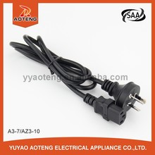 saa approval 3x0.75/1.0/1.5mm2 plug power cord with end c13 plug.electric skillet power cord