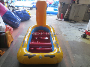 inflatable yellow duck water boat for kids on sale