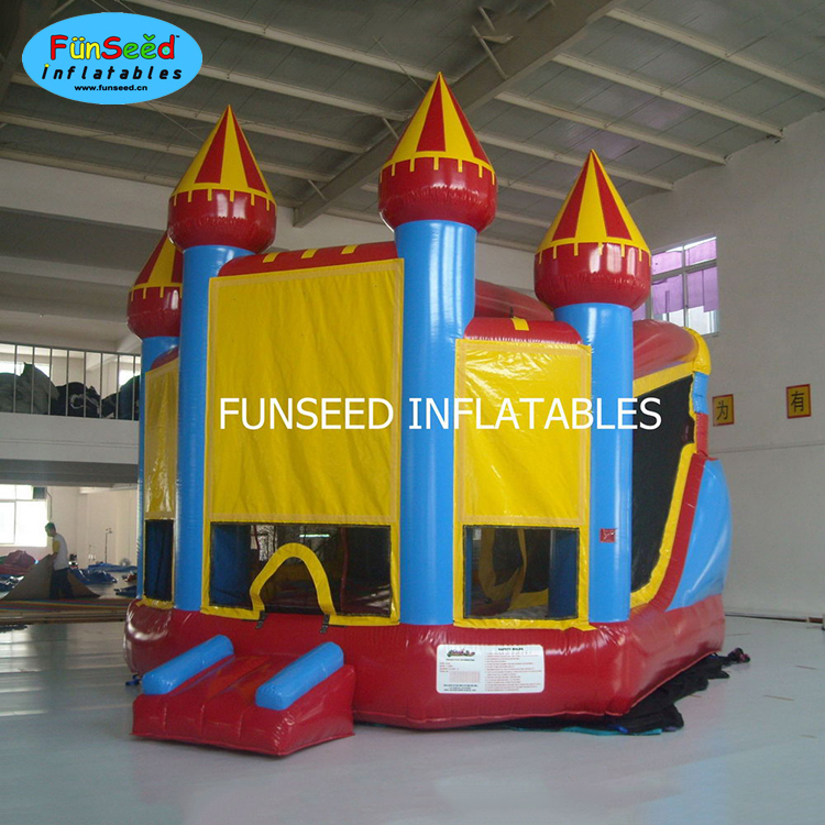 Hot sale best quality cheap infatable bouncer castle with slide