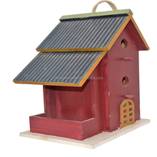 Courtyard decorative waterproof painting wooden bird house