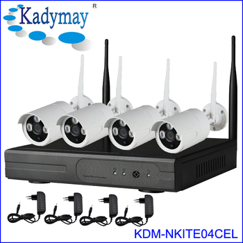New wireless ip camera system outdoor 720p hd h.264 wifi nvr kits