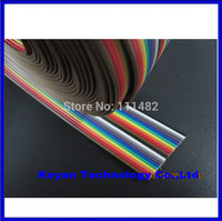 Free Shipping 40 way Dupont Wire Flat Color Rainbow Ribbon Cable 2.54mm 1M 3.2ft 40pin Dupont Wire Flat