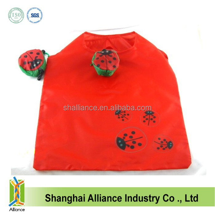 Promotional Animal cockchafer / beetle shaped Foldable bag Folding shopping bags
