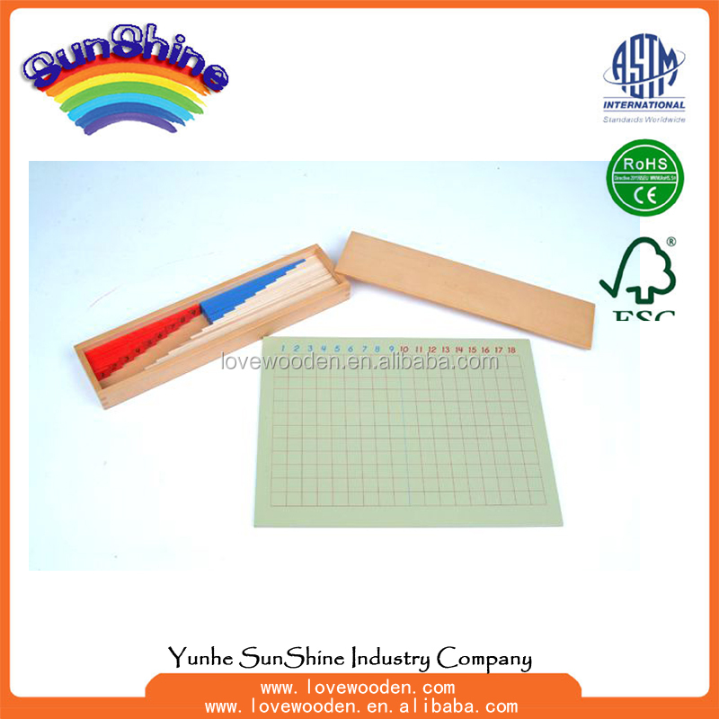 2016 Educational toy, Montessori materials toys , Subtraction Strip Board , montessori mathematics