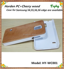 S5 Ultra thin wood white plastic case for Samsung Galaxy S5 Mini Wood Back Hard Cover Case