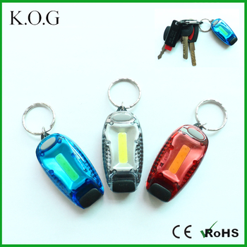Colorful COB keychain flashlight,keychain led flashlight,led keychain light with clip