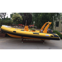 China manufacturer new 17' RIB rigid hypalon inflatable sport fishing boats for sale