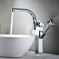 FLG Factory supplier modern bathroom sink deck mounted brass chrome basin faucet tap