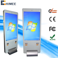 65inch metal frame stand white color vertical touch monitor all in one computer