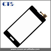 For LG E615 Optimus L5 Dual * Black Touch Screen Digitizer w/ Frame Part