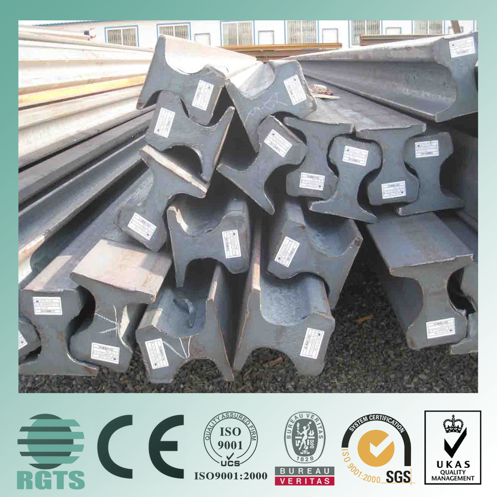 used rail steel for sale a36/235/st37-2 equivalent material railway track material used