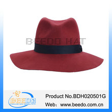Multicolor black and red fedora hat for female male
