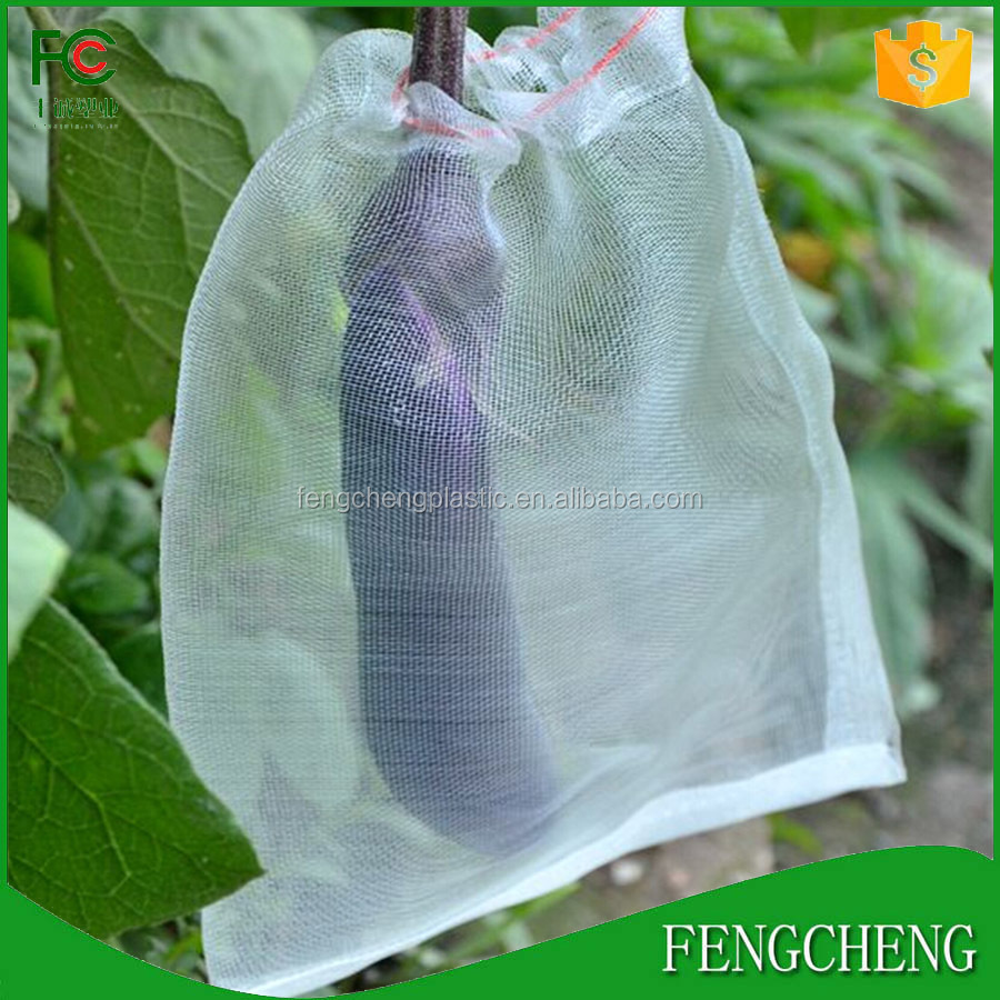 white color fruit fly net bag reusable insect proof mesh bag