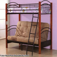 Wooden Bed Furniture Sofa Futon Folding Bunk