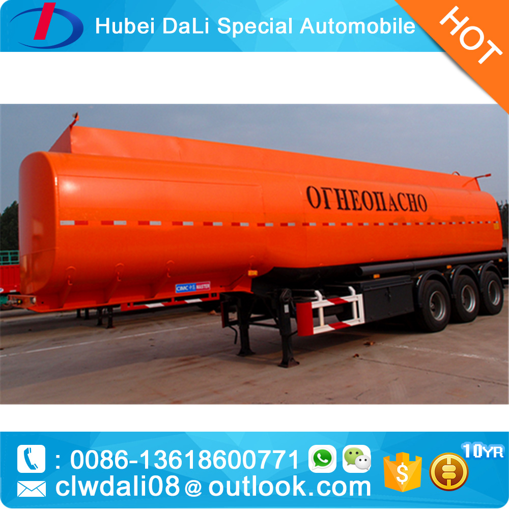 Liquid Chemical sulfuric acid tank truck semi trailer for sale from china manufacture