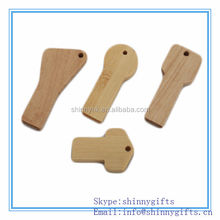Shinny Gifts wooden key shape micro usb flash drives 128gb for business gifts SI-FDW00034