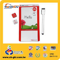 Promotional memo dry erase board small mini magnetic whiteboard