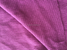 cotton polyester waffle thermal knitted fabric
