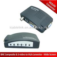 CCTV Camera DVD DVR BNC S-VIDEO TO VGA PC Computer Monitor Converter Adapter Box,bnc rca av s-video to vga converter