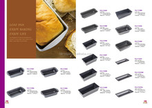 101088 new designed wholesales carbon steel bread baking pan/loaf cake pan/baguette baking pan