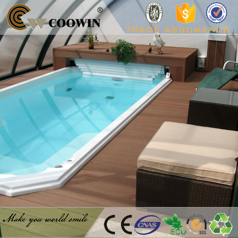 Swimming pool composite decking new tech decks