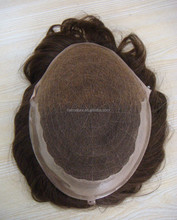 All Handtied Work Good High Quality Swiss Lace base Pu edge 100% human hair mens toupee on selling