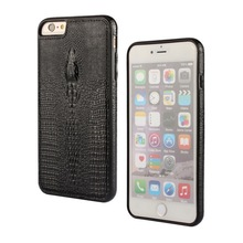 Factory Price Crocodile Head PU Leather Skin TPU Back Cover Case For iphone 6 6s