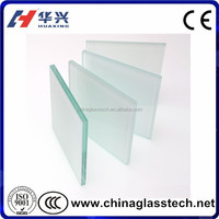 Milky White PVB Frosted Laminated Glass 6.38mm THick