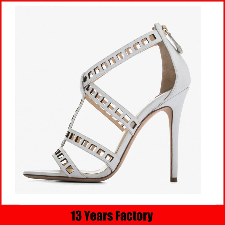 2016 new design high quality best price elegant stylish ribbon lace ornament high heel shoes women sandals