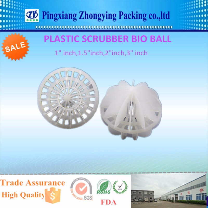 Plastic Polyhedral Hollow Ball Plastic Hollow Ball for water purification