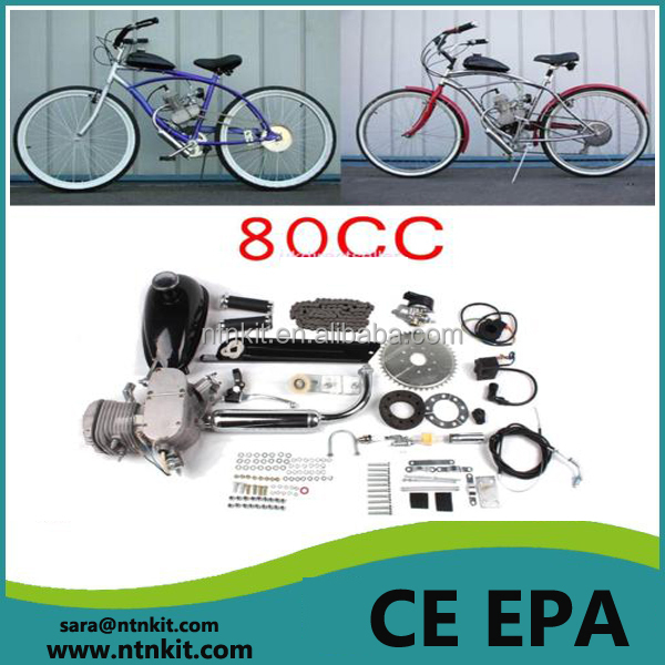 Powered scooter gas petrol motor 2 stroke 80cc motorized bicycle engine kit