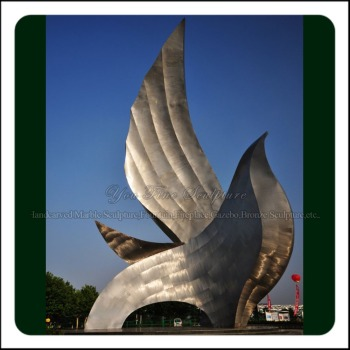 Large Metal Animal Dove Stainless Steel Sculpture for Park