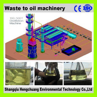 PLC control system waste plastic recycling machine with 100% environmental