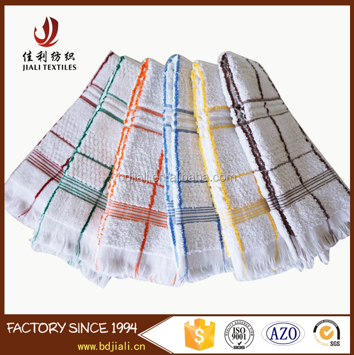 China Factory Supply Cheap Wholesale 100% Cotton tea towel Kitchen Towels