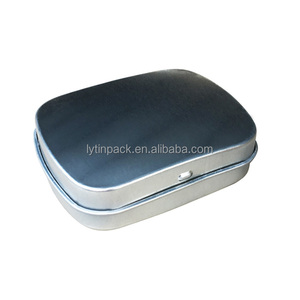 Small Tin pill box with hinged lid