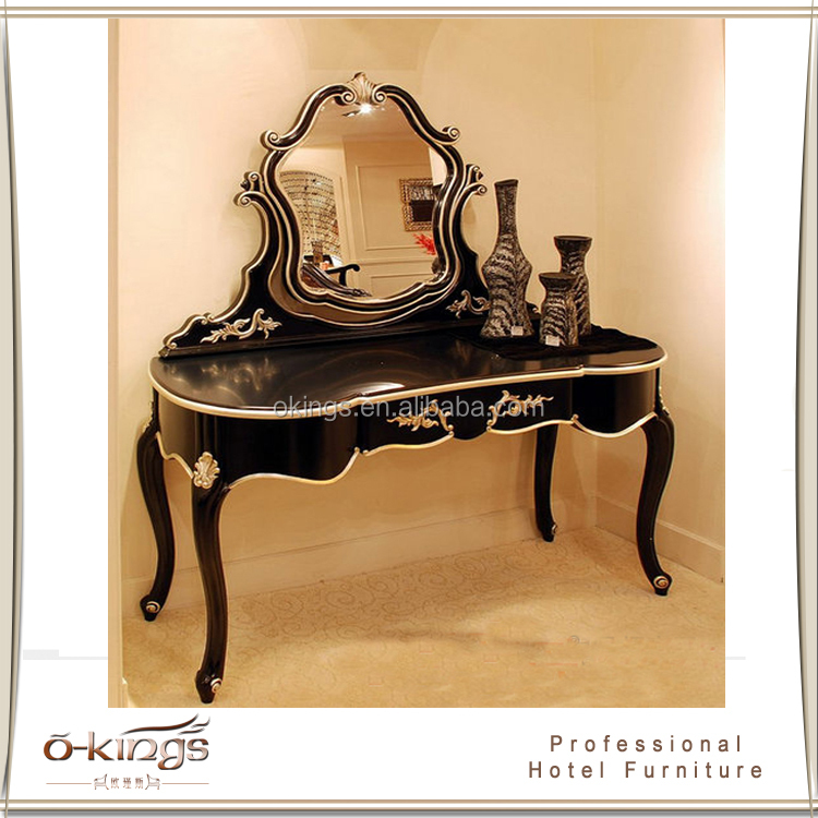Hotel high end antique vanity makeup dresser with mirror