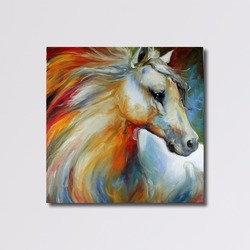Famous Artist Acrylic Abstract Horse Animal Art Paintings