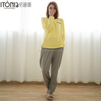 wholesale cotton maternity nursing pajamas women sleeping clothes