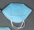 Disposable fold non-woven face mask without valve