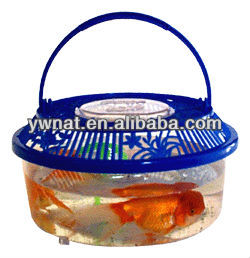 Plastic round pet cage /fish pet cage /turtle pet cage
