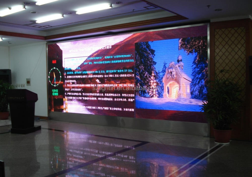 Small Pixel Pitch 2.5 mm HD Video LED Screen Display Indoor Advertising LED Signs Wall 1R1G1B