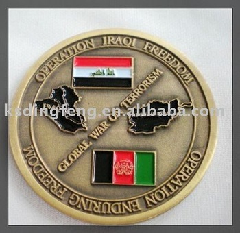 souvenir metal coin